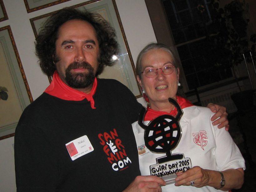Lore Monnig, premio Guiri del Año de Sanfermin 2005.