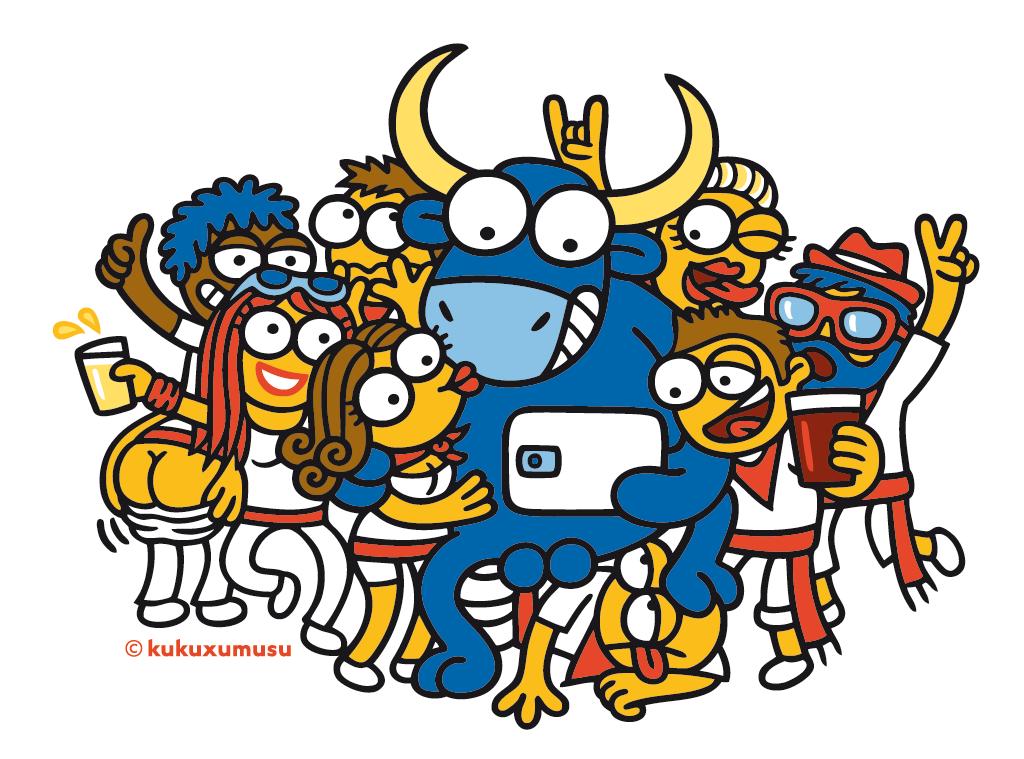 El toro Mister Testis, icono de Kukuxumusu en Sanfermin.
