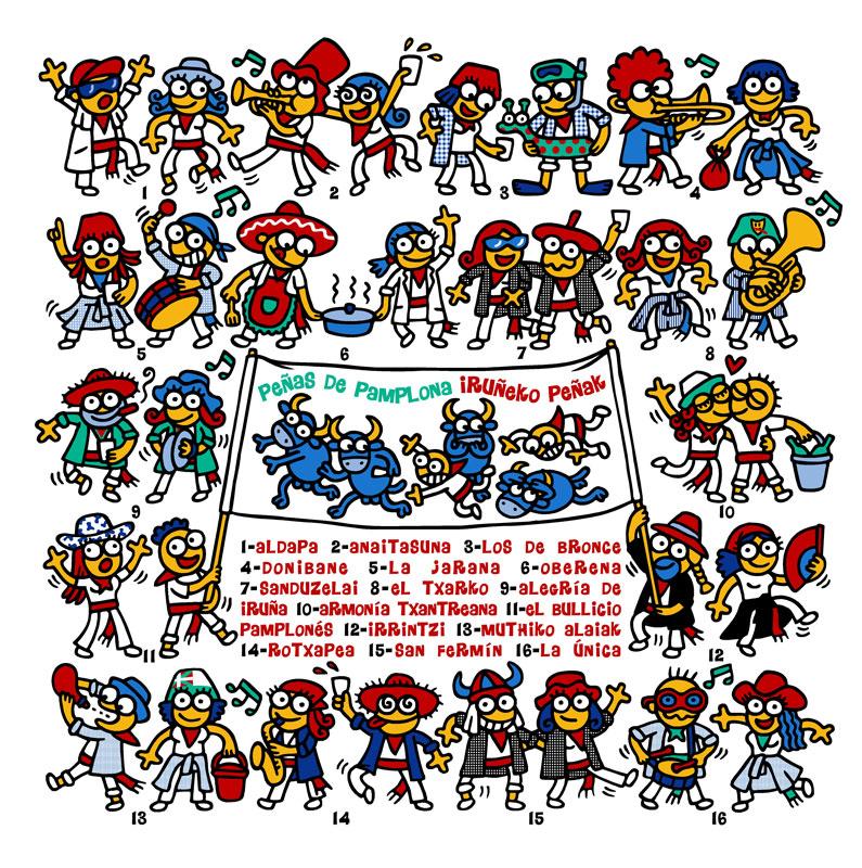 Las Peñas - Sanfermin.com a7e2ff1c6f255