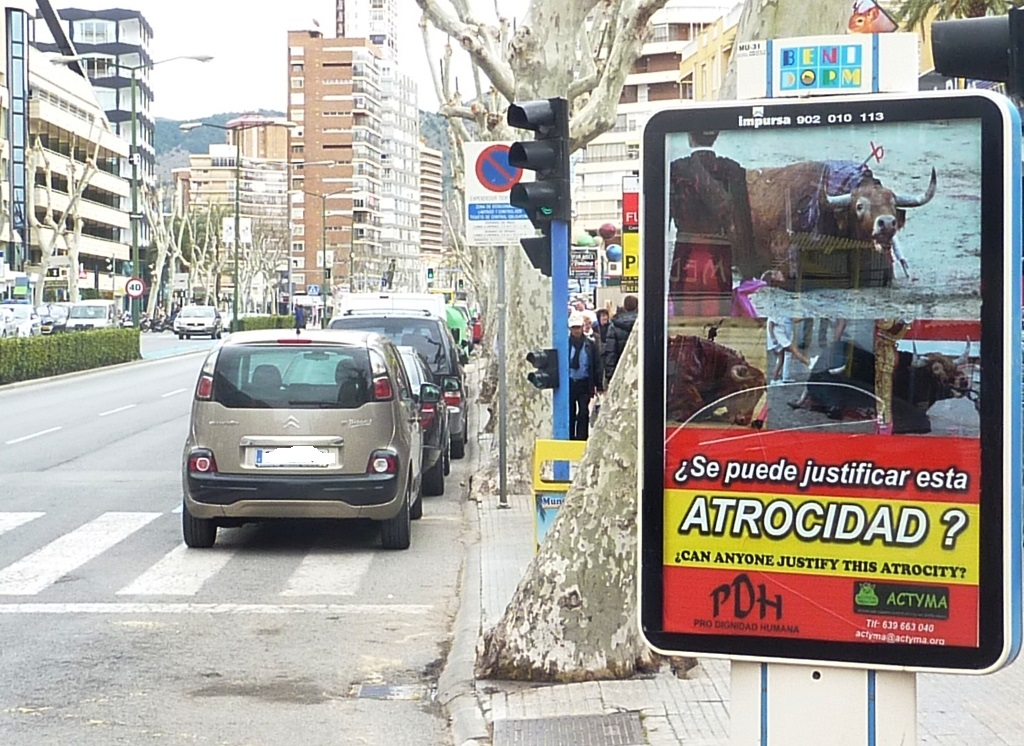 Image of the Actyma campaign in Benidorm. Facebook Actyma