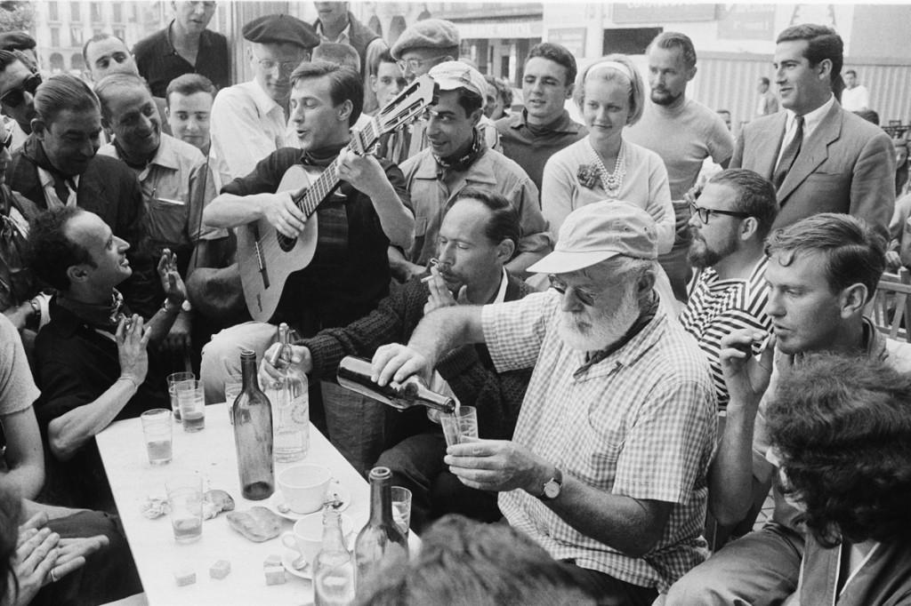 Hemingway en su última visita a Pamplona en 1959. Foto: Julio Ubiña