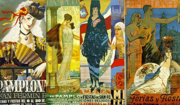La figura femenina era trascendental en los carteles de sanfermin de principios del siglo XX