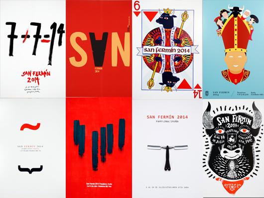 carteles finalistas sanfermin 2014