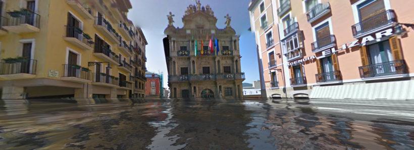 Plaza de toros de Pamplona Underwater. WorldUnderWater.org / Google Street View