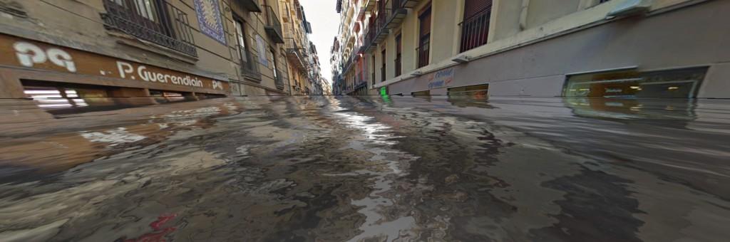 Calle Estafeta Underwater. WorlUnderWater.org / Google Street View