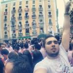 Txupinazo en el Ayuntamiento