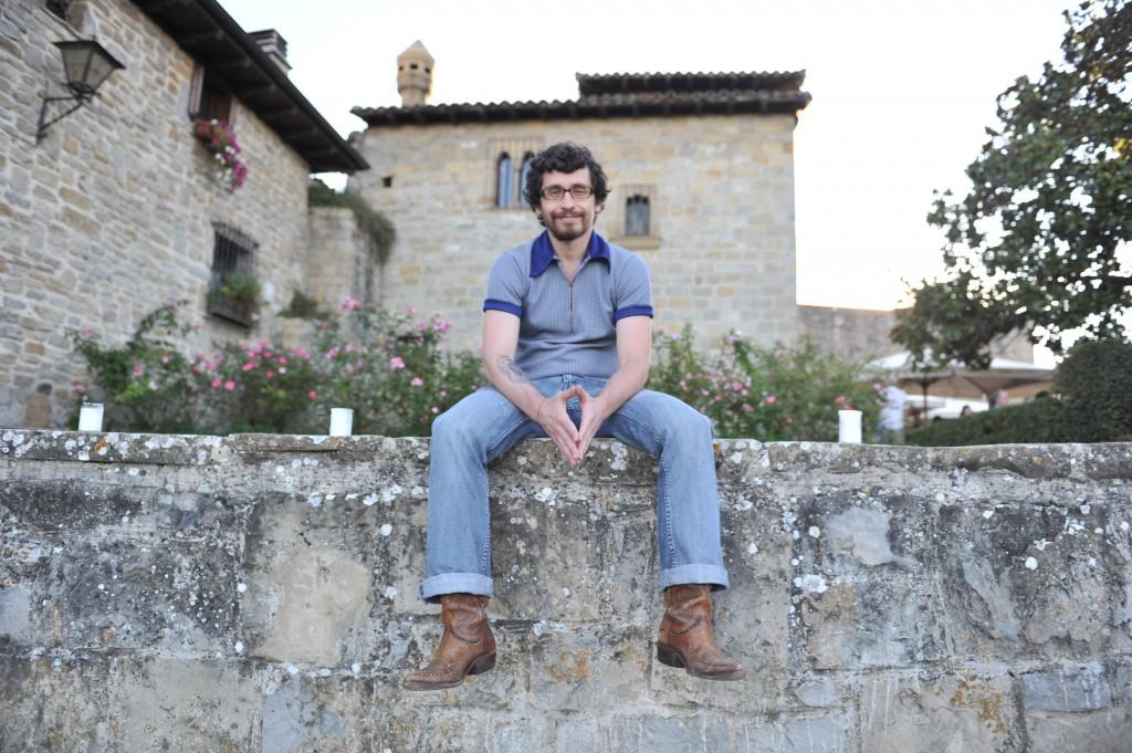 Bill Hillman en Baluarte de El Redín en Pamplona. Imagen, Mikel Ciáurriz.