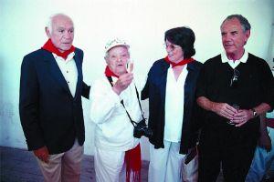 El Marqués de Taracena con su esposa junto a Cano y Pedro Osinaga en el apartado. Imagen de Diario de Navarra.