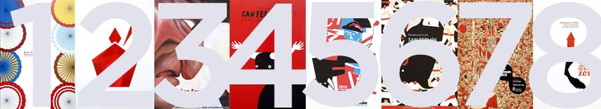 Carteles numerados Sanfermin 2015