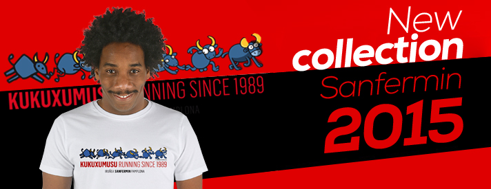 New collection Running of the bulls T-shirt Kukuxumusu