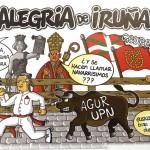 Pancarta de la Peña Alegría de Iruña Sanfemrin 2015