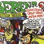 Pancarta de la Peña Oberena Sanfermin 2015