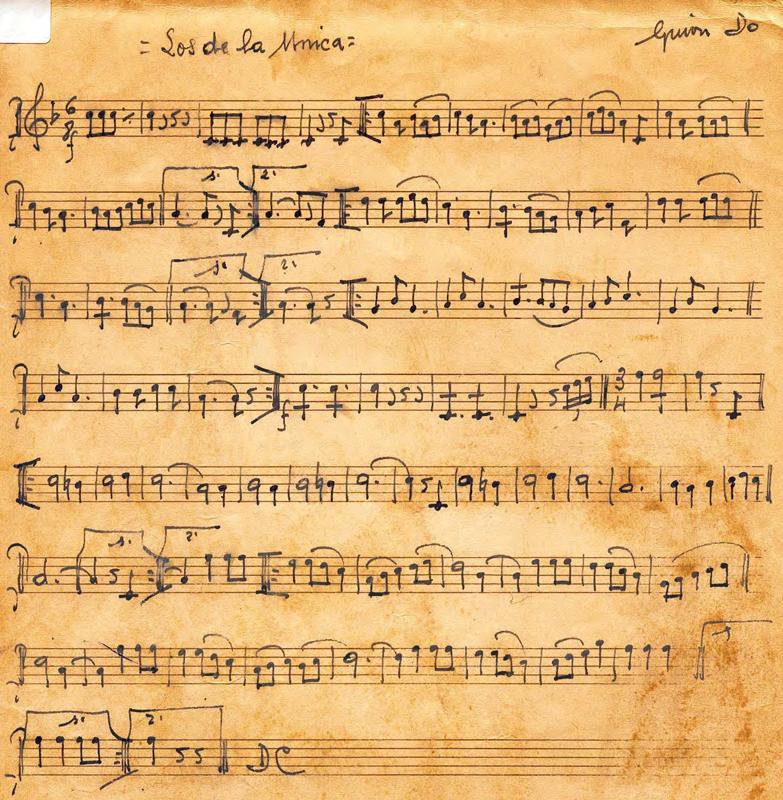 Letra original de la música de La Peña La Única de Manuel Turrillas