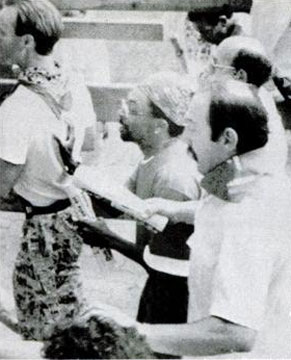 Spike Lee in the running of the bulls of Sanfermin in 1991