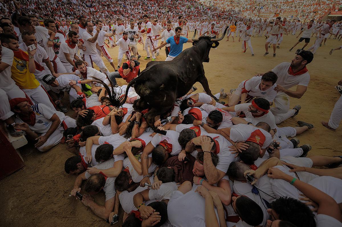 © AFP Álvaro Barrientos. 8 de julio de 2015. Sanfermin. Pamplona.