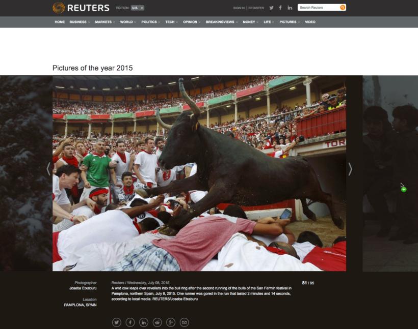 © REUTERS/Joseba Etxaburu. 8 julio 2015.