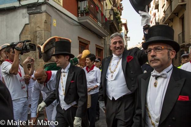 Josebas Asirón. Julio de 2015. Procesión de San Fermín. Imagen de Maite H. Mateo