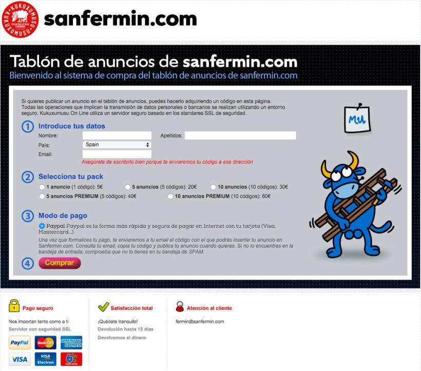 Tablón de Anuncios de Sanfermin.com 2016