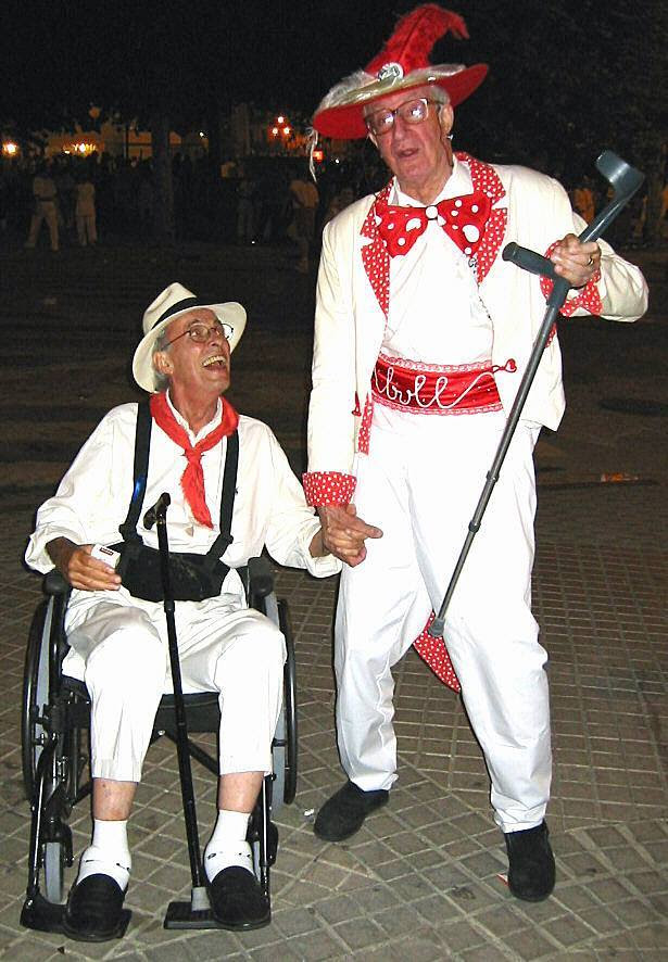 ¡Viva San Firteen! With Chris Humphreys. I love this photo. Pamplona and San Fermin…no matter how old you get, you're still a teenager.