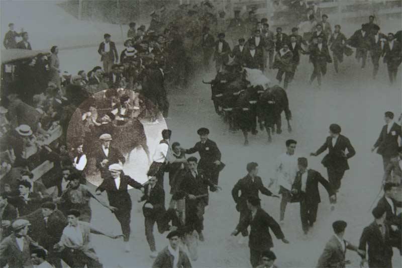 Esteban Domeño, corneado mortalmente en un encierro de Sanfermin 1924.