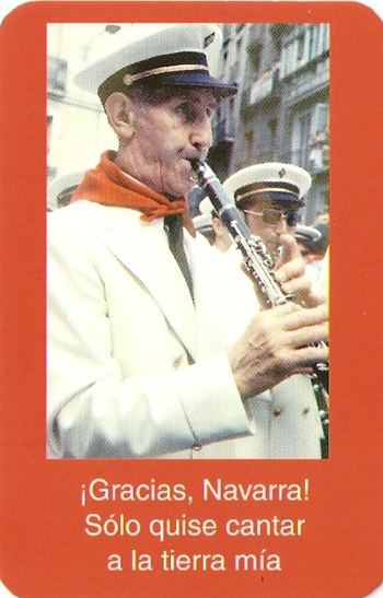 The Maestro Turrillas, with the words: Thank you Navarra! I only wanted to sing to my land.