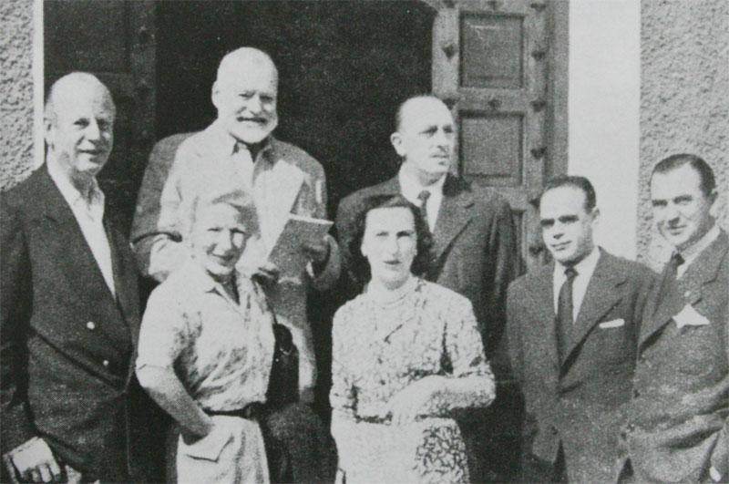 Hemingway pasó por Pamplona y comió en el restaurante Las Pocholas.