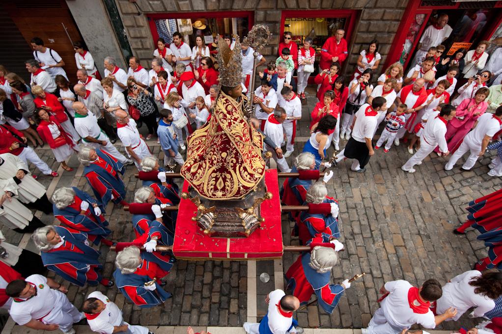 La procesión de San Fermín.