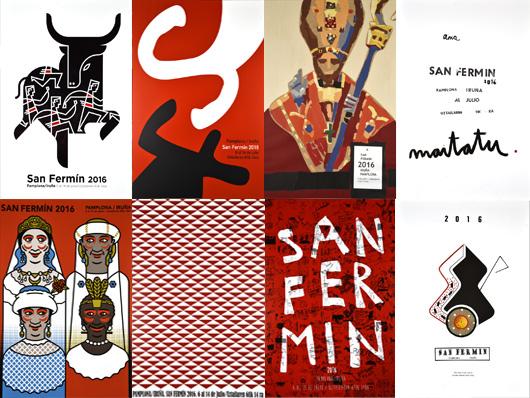 Carteles finalistas Sanfermin 2016