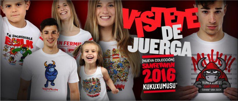 Nueva colección de camisetas para Sanfermin de Kukuxumusu.