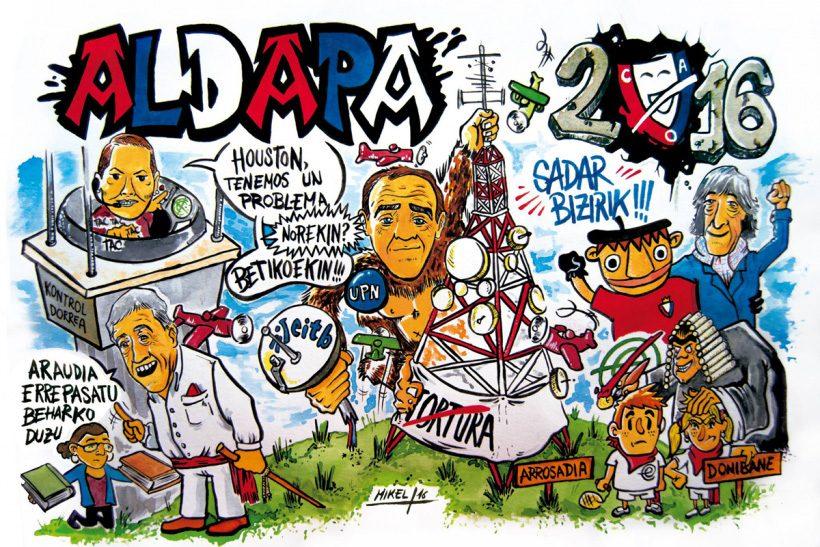 Pancarta de la Peña Aldapa 2016.