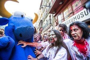 Encierro zombi de Sanfermin 2016 organizado por Kukuxumusu