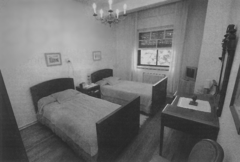 The room Hemingway and his wife Mary were in all those years ago. When this photo was taken, the room had hardly changed, apparently.