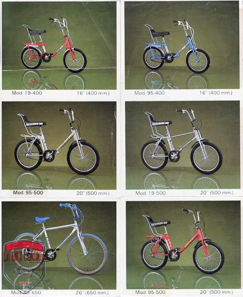 Modelos de las bicicletas BH de 1983