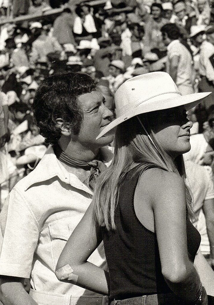 Pamplona 1971, with Eleonore.