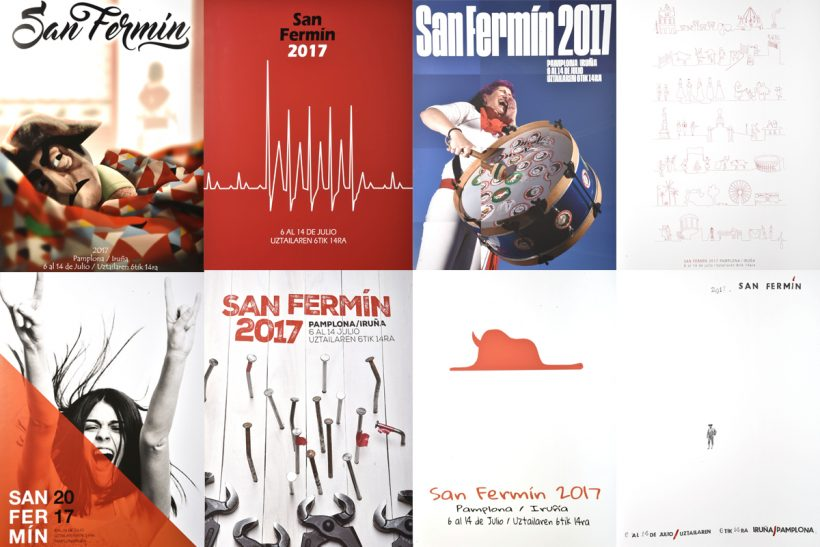 Carteles finalistas de San Fermín 2017