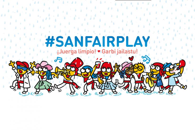 SanFairPlay, iniciativa de Kukuxumusu para promover unas fiestas sin agresiones.