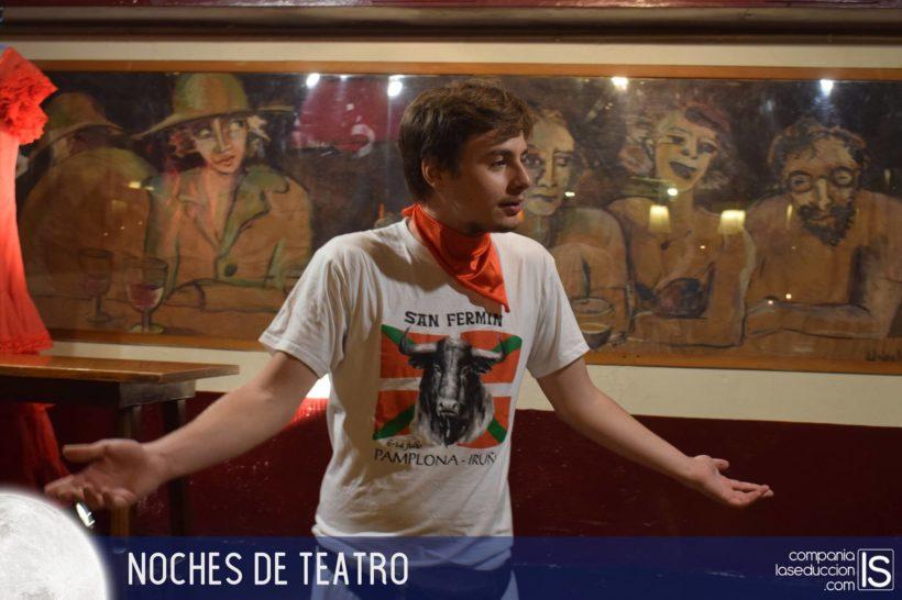 Un instante de la obra Resacón en Pamplona, de la compañia de Teatro La Seducción
