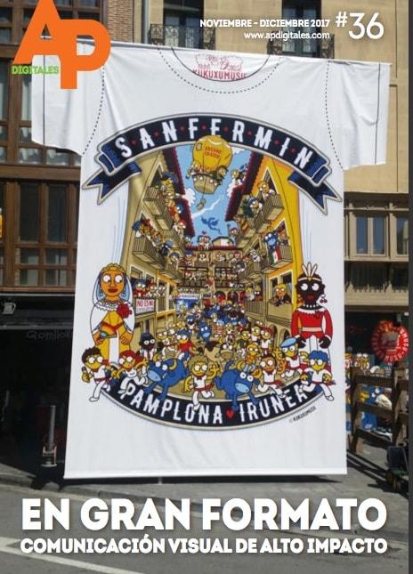 Camiseta Gigante de San Fermin en la calle estafeta de Pamplona