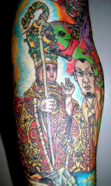 Tatuaje a color de Sanfermin