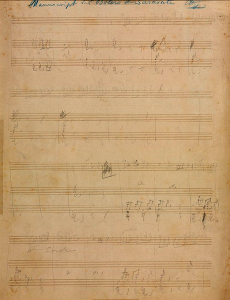 Bolero, Opus 30 : para violín y piano [Ca. 1885] M. Sarasate/ 1,